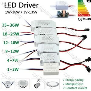 LED Driver Power Supply 240V to DC 36V 24V 12V 5V 10W 20W 30W 300mA Transformer