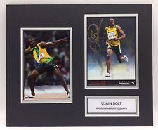 RARE Usain Bolt Olympics Signed Photo Display + COA AUTOGRAPH 100m LONDON 2012