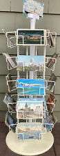 Vintage Store Counter Display Rotating Postcard Rack Heavy Wire