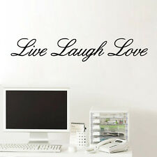 Quote Wall Decal LIVE LAUGH LOVE Art Vinyl Removable Sticker Home Decor Bedroom