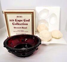 Dessert Bowl & Three Special Occasion Soaps Cape Cod Avon 1876