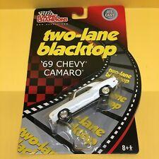 Racing Champions Two Lane Blacktop 1969 Chevy Camaro - White