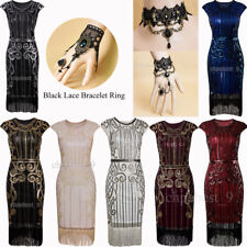 Womens Clothing 1920s Flapper Dress Vintage Gatsby Costume Party Evening Dresses