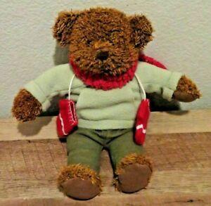 "Hallmark Brown Teddy Bear Dressed For Winter 13"" Christmas Plush Stuffed Animal"