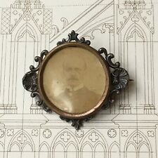 Broche Ancienne Porte Photo Coquilles 1910-1920 Antique French Brooch