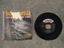 """45 RPM 7"""" Record Whitney Houston One Moment In Time Arista Records AS1-9743 VG+"""