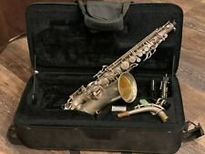 1934 SILVER ALTO SAXOPHONE - THE NEW BUESCHER ARISTOCRAT - LOW PITCH