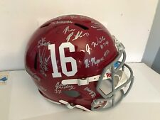 SIGNED 2017-18 Alabama Crimson Tide BCS champs Full Size football helmet Minkah