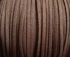 suédine 5m fil lacet façon cuir daim marron /6