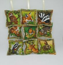 Lavender Bag Joblot x 9 Handmade cotton fabric padded sachets resell craft