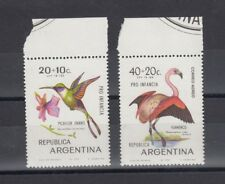 TIMBRE STAMP  2 ARGENTINE Y&T#862+130 PA OISEAU BIRD NEUF**/MNH-MINT 1970 ~A86