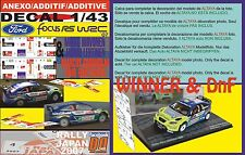 ANEXO DECAL 1/43 FORD FOCUS HIRVONEN & GRONHOLM R.JAPAN 2007 WINNER & DnF (01)
