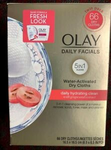 Olay Daily Hydrating Clean with Grapeseed Extract 5 in 1 66 Ct.