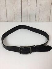 Bronzino Black Genuine Leather Belt Size 38/95 Italy Made