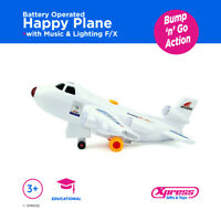 Happy Plane Battery with Music and Lights Airbus Jumbo Jet Battery Operated Toy