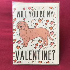 Basset Fauve de Bretagne Valentines Day Card Holiday Dog Notecard for All Ages