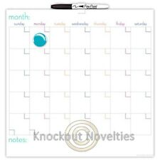 The Board Dudes: 14X14 Magnetic Dry Erase Calendar Tile Board Marker And Magnet