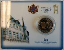 Coincard Luxemburg 2004 2 Euro Henri Großherzog Gedenkmünze st