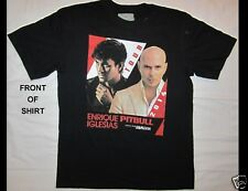 Enrique Iglesias Pitbull Jb Alvin Tour 2014 Size Large Black T-Shirt