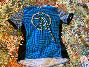 Primal Wear Cycling Jersey Size Small Blue SS Metal Rivet Frog Made In USA