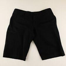 Polo Jeans Co Womens Black Bermuda Casual Walking Cotton Blend Shorts  Size 10
