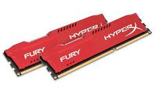 8GB Kingston Hyper X Fury DDR3 PC3-15000 1899MHz CL10 Memory Kit (2 x 4GB) - Red