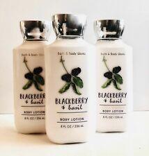BATH & BODY WORKS BLACKBERRY & BAZIL BODY LOTION CREAM