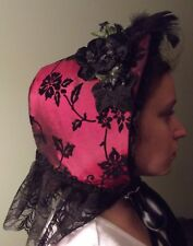 Victorian Attire Civil War Cottage Bonnet Your Color Choice 19th Century Costume