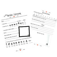 Wedding Advice Cards  For The Bride & Groom Wedding Wishes Cards Guest Book 20
