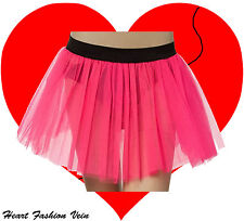 Plus Size Neon UV Hot Pink tutu skirt Rave Dance Fancy party Halloween Christmas