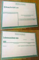 """EBS Germany 1943 WW2 """"Sign of Life"""" card - Eilnachricht / Lebenszeichen (green)"""