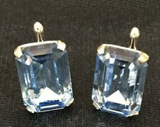 VINTAGE SWANK CUFF LINKS LARGE Blue STONE FORMAL WEAR WEDDING