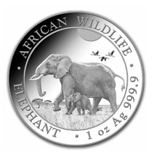 2022 Somalian African Elephant  1 oz .9999 silver BU in capsule