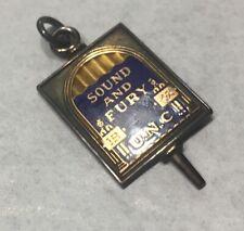 Enamel On Silver Unc Commerative Key Charm Sound & Fury Faulkner Bagdaddaddy