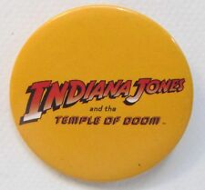 1984 INDIANA JONES AND THE TEMPLE OF DOOM movie pinback button