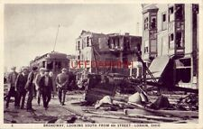 1924 BROADWAY LOOKING SOUTH FROM 6th Street, LORAIN, OHIO Tornado disaster