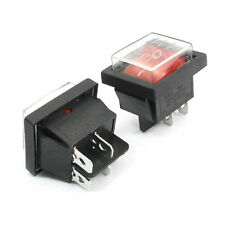 2 x Red rocker on/off switch - Water Proof
