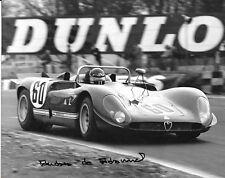 Andrea de Adamich  SIGNED , Alfa Romeo T33  , BOAC Brands Hatch 1000 km 1970