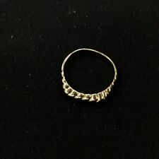 Thin Gold Twisted Rope Design 375 9ct Ring Size 53 #129