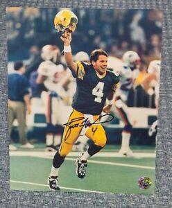 Brett Favre Authentic Signed 8X10 Photo w/ Favre Holo & COA Packers 3 X MVP
