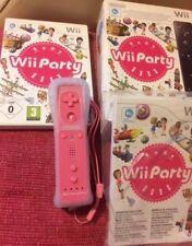 NUOVO CON SCATOLA ~ NINTENDO Wii ~ PARTY incl Rosa Motion Plus Remoto ~ {completa box set}