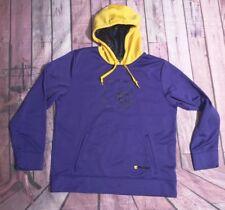 Vintage And1 Mens Basketball Purple Yellow Sweatshirt Hoodie Size L/G