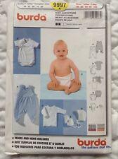 Burda 9997 Sewing Pattern Baby Clothes 1-12 Month Diaper Cover Romper Hat UNCUT