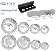 Australian Red Kangaroo 2016 Silver Proof Four-Coin Set in Presentation Case