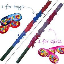 Matching Pinata Buster Blindfolds set Stick bashing Smash Smashing Boys Girls UK