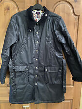 Paul Smith Girls Navy Waxed Coat - Lovely Lining - Size 14 - Worn Once