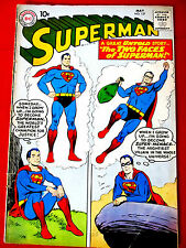 Superman #137 May 1960 DC Original Comic Book May 1960 VG+ 4.5 Two Faces of Supe