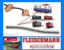 FLEISCHMANN 9119 BINARIO mm.222 con CREMAGLIERA DENTATA 7305 7306 e 7307 SCALA-N
