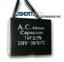 NEW A.C. MOTOR CAPACITOR 7 uF ± 5% 250 VAC