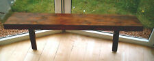 Hand made chunky rustic shelves - Solid wood in dark oak finish